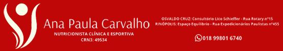 ANA PAULA CARVALHO NUTRICIONISTA