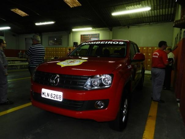 Corpo de Bombeiros de OC recebe mais um veículo da Prefeitura