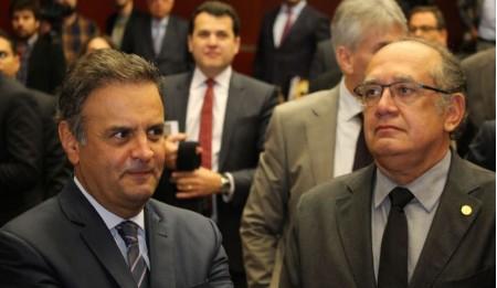 Aécio Neves e Gilmar Mendes realizaram 33 ligações por WhatsApp em 2 meses