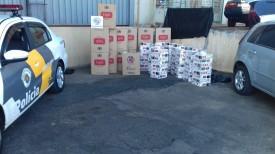 Polícia Rodoviária apreende 11.500 maços de cigarros contrabandeados