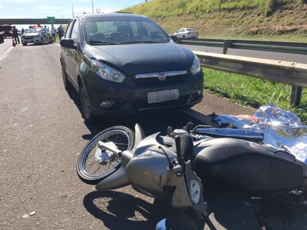 Motociclista morre em acidente na SP-270