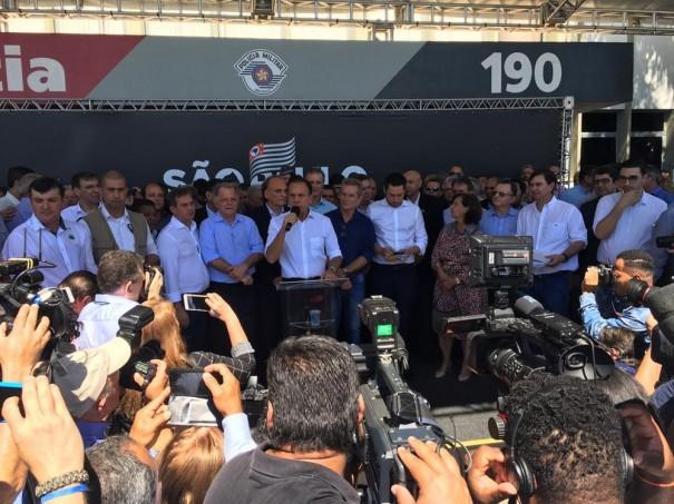 'Com a Rota, não se brinca', afirma Dória ao inaugurar Batalhão de Ações Especiais de Polícia em Presidente Prudente