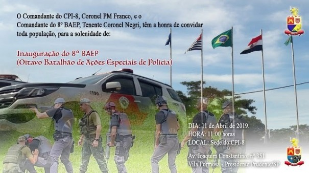 Polícia Militar inaugura oficialmente o 8º BAEP
