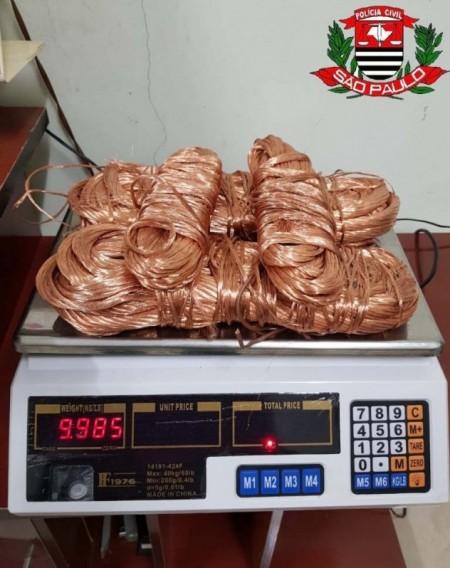 Policiais civis de Regente Feijó prendem funcionário que furtava fios de cobre