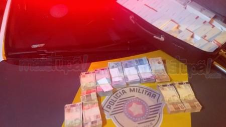 Homem é preso com R$ 73 mil e 160 celulares contrabandeados na SP 294 em Tupã