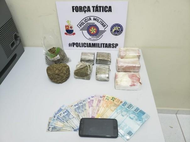 PM prende homem com skunk, cocaína e maconha na Raposo Tavares, em Presidente Bernardes