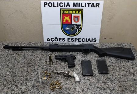 Revólver e munições são apreendidos pelo 8º Baep em Mirante do Paranapanema