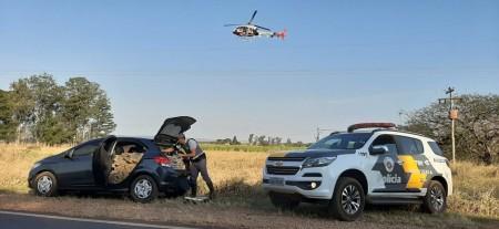Motorista abandona carro lotado de maconha para escapar de abordagem policial em Teodoro Sampaio