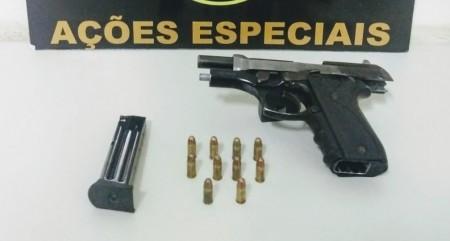 Homem que deu tiro na própria mão é preso por posse ilegal de arma no Residencial Servantes, em Presidente Prudente
