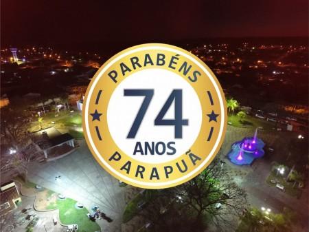Parapuã tem programação especial em comemoração aos seus 74 anos