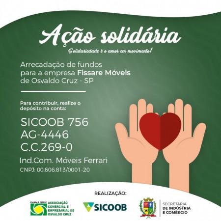 Entidades de OC encabeçam ação solidária para ajudar na recuperação da Fissare Móveis