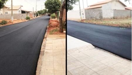 Novas ruas são beneficiadas com recapeamento asfáltico em Salmourão