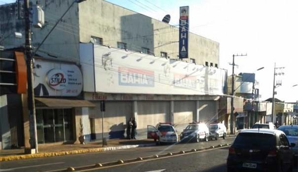 Casas Bahia de Tupã é assaltada e bandidos levam cerca de R$ 100 mil