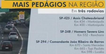 Concessão da SP-294 poderá gerar três praças de pedágios entre Lucélia e Santa Mercedes