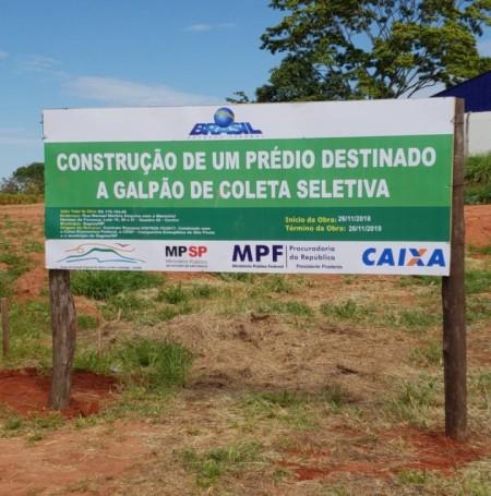 Município de Sagres inicia construção do Barracão de Coleta Seletiva