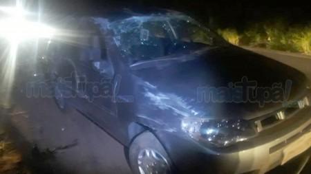 Condutor capota veículo na vicinal que liga Bastos a Tupã
