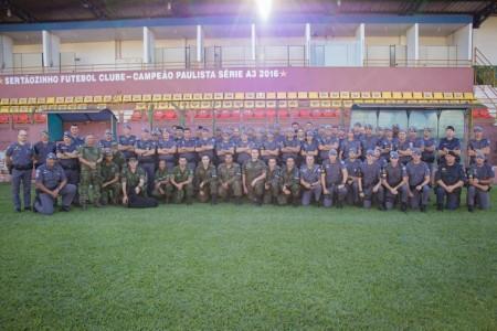 Policiais do 25º BPM/I participaram de treinamento em Sertãozinho