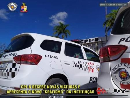 CPI-8 recebe novas viaturas e apresenta novo grafismo estabelecido para veículos da instituição