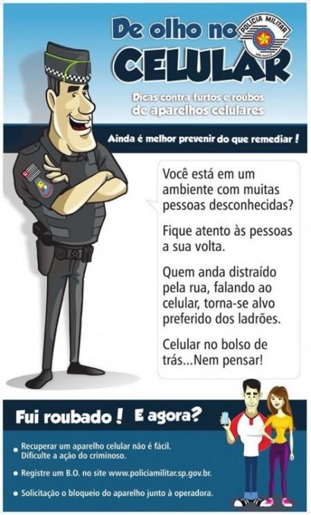 Comando do 25°BPM/I realiza campanha de prevenção de furto e roubo de celulares