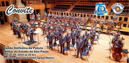 Banda Sinfônica da Polícia Militar se apresenta em Lucélia