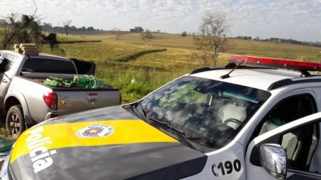 Polícia Rodoviária prende condutor de veículo furtado que transportava maconha na SP-425