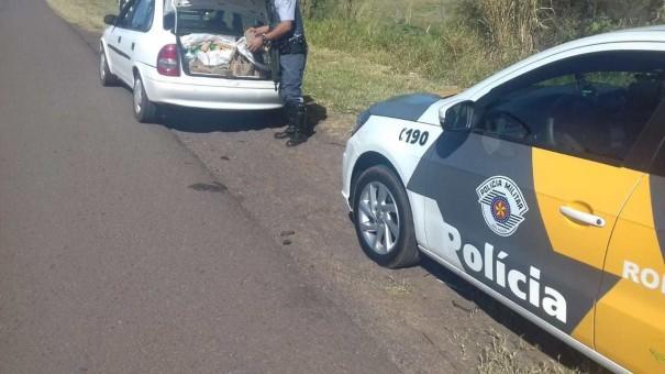 PM Rodoviária prende homem na SP 294 em Dracena transportando entorpecente
