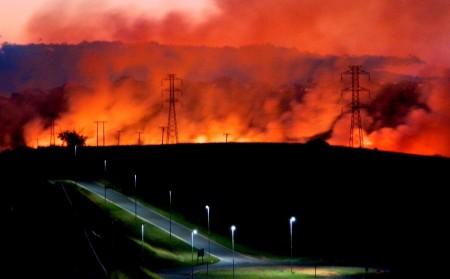Incêndio devasta cerca de 30 alqueires de vegetação ao lado da Mata da Santana