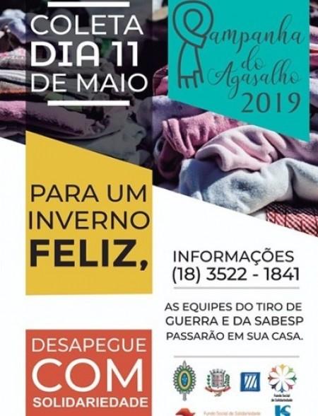 Campanha do Agasalho 2019 de Adamantina realiza coleta sábado