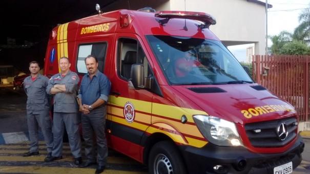 OC recebe da Secretaria de Estado da Saúde uma nova unidade resgate para o Corpo de Bombeiros