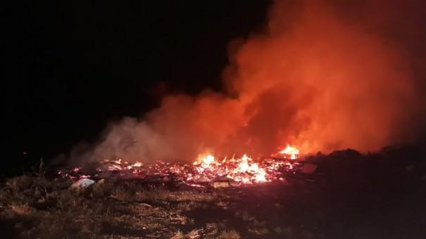 Vândalos colocam fogo no Ecoponto Municipal de Osvaldo Cruz