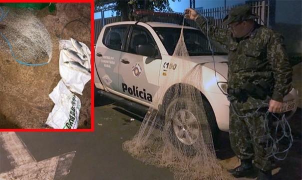 Polícia Ambiental de Tupã aplica multas por pescaria em local proibido no Rio do Peixe, em Parapuã
