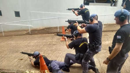 25º BPM/I realiza treinamento do Pelotão de Choque