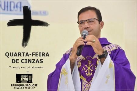 Paróquia de São José de OC realiza missas nesta Quarta-Feira de Cinzas