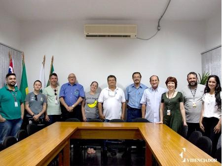 Representantes de Osvaldo Cruz recebem nova equipe do Circuito Sesc de Artes