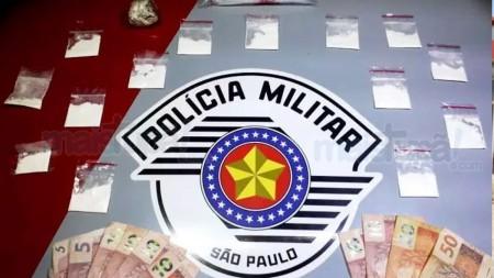 Polícia Militar prende casal que vendia drogas por WhatsApp e fazia 'delivery' de drogas