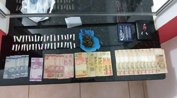 Em ocorrência de perturbação do sossego em festa, PM prende traficante de drogas
