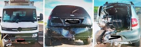 Acidente envolve três veículos na Rodovia Comandante João Ribeiro de Barros
