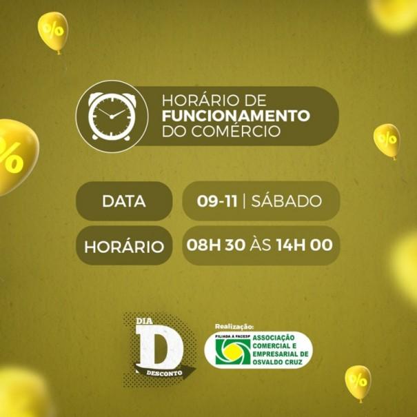 ACEOC promove mais um 'Dia D Desconto' neste sábado (09)