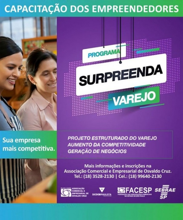 Programa Surpreenda Varejo termina em novembro em Osvaldo Cruz