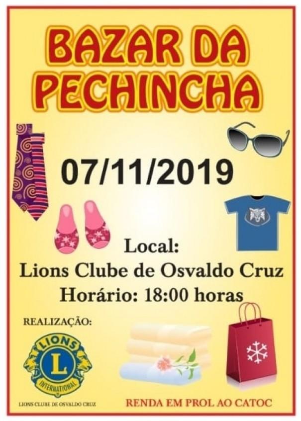 Lions Clube de Osvaldo Cruz realiza Bazar da Pechincha nesta quinta-feira