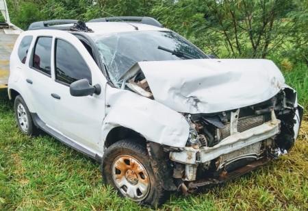 Duas pessoas ficam feridas em acidente entre dois veículos na Rodovia Comandante João Ribeiro de Barros