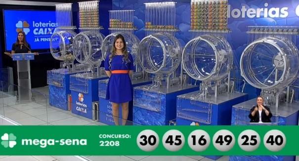 Mega-Sena, concurso 2.208: ninguém acerta as seis dezenas e prêmio vai a R$ 13,5 milhões