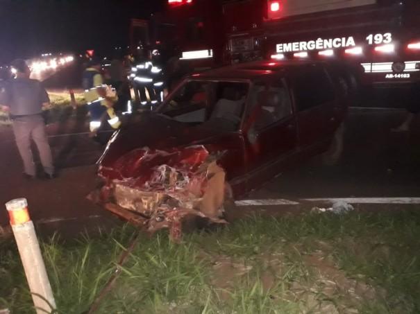 Homem fica ferido após acidente na Rodovia Brigadeiro Eduardo Gomes