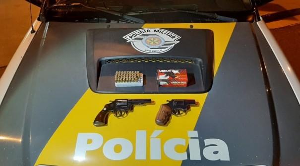 Armas de fogo e munições são apreendidas pela Polícia Rodoviária, em Presidente Venceslau