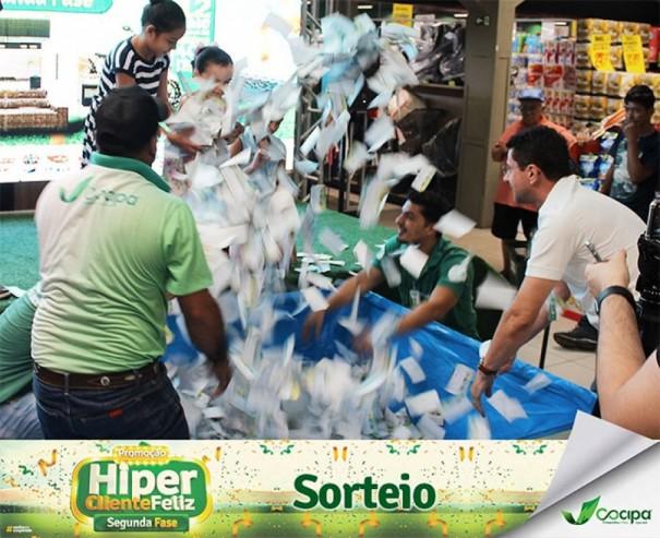 Cocipa sorteia prêmios da 2º fase da Promoção Hiper Cliente Feliz