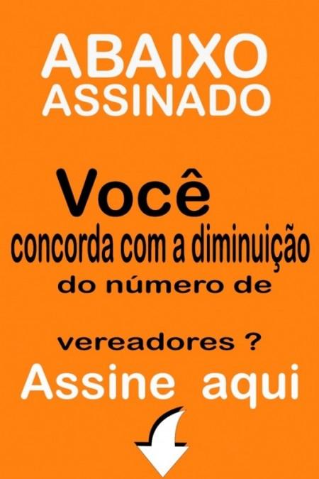 Voluntários já estão colhendo assinaturas a favor da redução do número de vereadores em Tupã