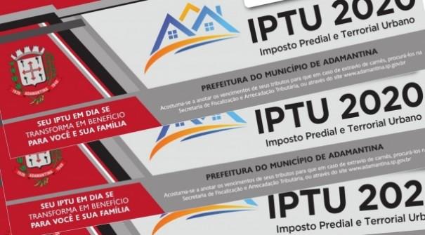 Carnês do IPTU começaram a ser entregues nesta quarta-feira em Adamantina