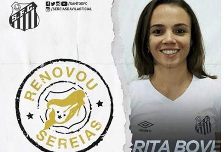 Floridense renova contrato com a equipe feminina do Santos FC