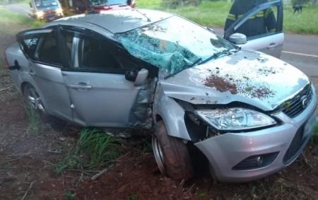 Acidente grave deixa seis pessoas feridas na vicinal que liga Osvaldo Cruz a Sagres