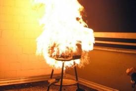 Churrasqueira explode e jovem sofre queimaduras graves em Panorama